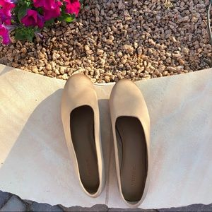 Vince Maxwell 2 Fawn Satin Ballet Round Toe Flats